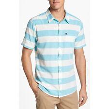 QUIKSILVER Men's TUBE PRISON  S/S Button-Up Shirt - AZB - Large - NWT