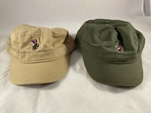 U.S. Polo Association Lot of 2 Hats Olive and Tan