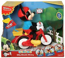 DISNEY MICKEY MOUSE CLUBHOUSE SILLY WHEELIE MICKEY ON CYCLE 3 GAMES CJF04 *NEW*