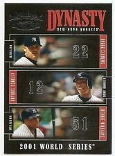 2005 THROWBACK THREADS DYNASTY Roger Clemens/Alfonso Soriano/Bernie Williams #D6