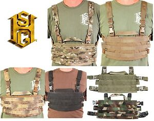 HSGI 40SCR1 AO Chest Rig MOLLE Panel-Multicam-Coyote-Olive Drab-Black