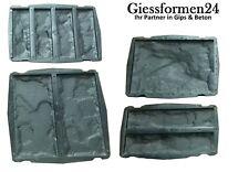 4 Verschiedene  Schalungsformen Beton Gips Giessformen Wandklinker Riemchen Set