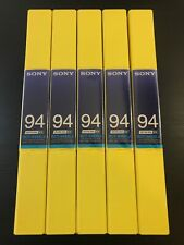 5 X NEW Sony BCT-94SXLA BETACAM SX Metal Cassette Tapes - Rare Made in Japan