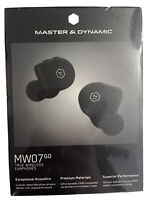 *FACTORY SEALED/NEW* MASTER & DYNAMIC MW07Go True Wireless Earphones -Jet Black