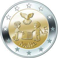 MALTA Peace - 2 Euro Commemorative Coin - 2017 Issue UNC - RARE