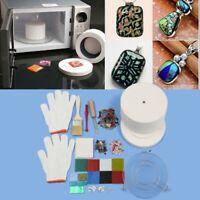 15pcs Large Microwave Kiln Kit Glass Fusing DIY Craft Jewellery Art Tool Set