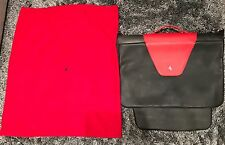 Authentic Enzo Ferrari Fitted Leather & Suede Suitcase Bag w/ Dust Cover! Rare!