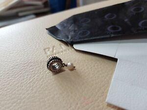 Genuine Pandora Vintage Pearl Dangle Charm