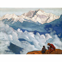 Roerich Pearl Of Searching Symbolist Landscape Painting Extra Large Art Poster