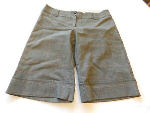 Charlotte Russe Ladies Women's Shorts Short Size 5 Grey Plaid Flat Front GUC