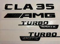 MERCEDES C CLASS CLA C118 GLOSS BLACK CLA35+AMG+4MATIC WINGS BADGES EMBLEM 2019+