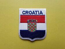 WORLDWIDE FREEPOST COUNTRY SHIELD FLAG SEW & IRON ON PATCH - CROATIA