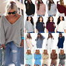 Womens Jumper Blouse Ladies Batwing Sleeve Pullover Oversized Sweatshirt Knitted