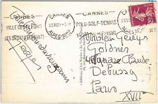 54476 - FRANCE - POSTAL HISTORY:  SPORTS postmark on POSTCARD: TENNIS  1934