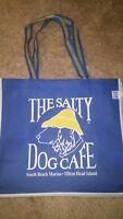 "The Salty Dog Cafe,  BLUE & WHITE , Polypropylene  TOTE  Bag, 15"" x 13"" x 7"""