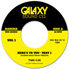 Funk, Disco,Sky Here's To You Part 1 & 2 Un Relased Multi Track mixes Galaxy 7""