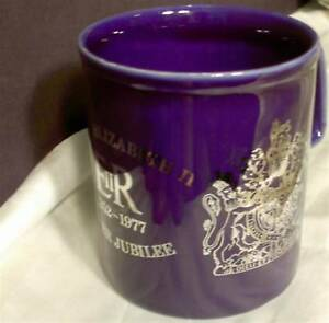 Staffordshire Ironstone Kiln Craft Cup Queen Elizabeth Silver Jubilee England 77