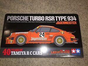 84431 Tamiya Porsche 934 Jagermeister - TA02SW Chassis Kit Empty Box