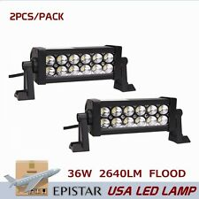 "2pcs 8"" 36W Led Flood Beam Light Bar Offroad Lamp Truck Boat 4WD Driving lamp"