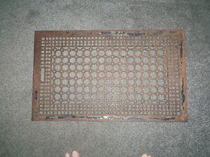 "Antique Cast Iron , Cold Air Floor Vent Register Grate, BIG, 30 1/4"" X 18 1/4"""