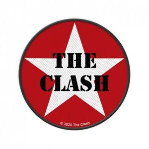 CLASH - Logo Star Circular Aufnäher Patch Punk Reggae Folk NEU Joe Strummer