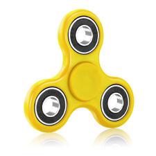 Tri Fidget Hand Spinner Focus Desk Toy EDC ADHD Autism KIDS ADULT-Yellow