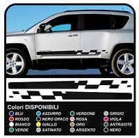 Adesivi laterali Jeep Compass strisce laterali bande adesive compass SPORT 1