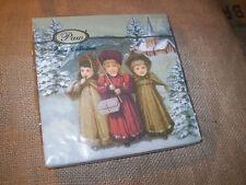 20 papier recyclé polonais Noël serviettes, vintage saints enfants