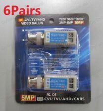 6 PAIR (12Pcs) UTP Video Balun Coax CAT5 to CCTV Camera BNC Passive Transceiver