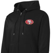 New 49ers Sport-Tek Full Zip Jacket Black Hoodie Hooded San Francisco Sweatshirt
