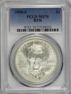 1998 S $1 Robert F Kennedy Commemorative Silver Dollar NGC MS70 , PRICED RIGHT!
