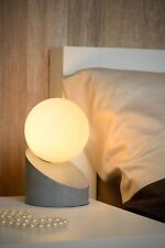 Moderne Tischleuchte Nachttischlampe Kugel Touch Schalter grau