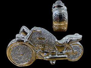 Ceramic Silver Crushed Diamond BIKE Bling Home Decoration Ornament Bike