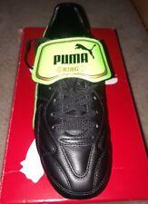 Puma King Top FG soccer cleats Black/Green mens 8.5