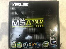 Neues AngebotAsus AMD am3+ 760g 2 x ddr3 8 x usb2.0 GBE LAN Micro-ATX Mainboard-schwarz