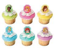 Disney Princess Gemstone cupcake rings (24) party favor cake topper 2 dozen