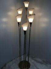 1985 Vintage Mid Century Modern Graduated Flower Floor Lamp Rare