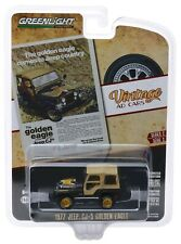 1:64 GreenLight *VINTAGE AD CARS 2* Black 1977 Jeep CJ-5 GOLDEN EAGLE *NIP*