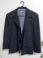 JACQUI-E   size  14 - 16  Black Polyester Slinky  4 Buttoned JACKET -  As new *