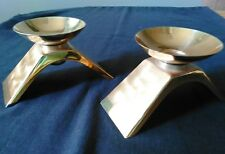 WMF-IKORA MID-CENTURY GERMAN SILVER PLATED CANDLE HOLDERS