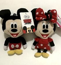"Disney Mickey & Minnie Mouse 8"" Hanger Plush Doll Children Coin Purse Set USA"