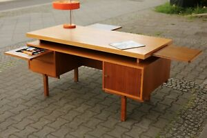 TRUE VINTAGE SCHREIBTISCH 70er Jahre Bauhaus BRUTALISTISCH Danish Modern Teak