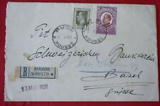 Mayfairstamps Bulgaria 1931 Rousse to Switzerland Registered Cover wwf89573
