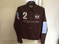 Used - Shirt LA MARTINA Camisa - Brown color Marrón - 100% Cotton - Usado