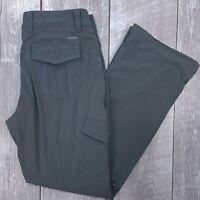 Eddie Bauer Polar Fleece Lined Pants Womens 10 34x32 Gray Mid Straight J62