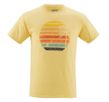NEW CCA Men's Sunset Short Sleeve Graphic T-Shirt Yellow Size 2XL