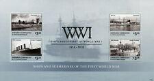 Grenada Grenadines 2014 MNH WWI 100 World War I Ships Submarines 4v MS Stamps