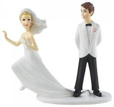 WILTON Runaway Bride Figurine 1006-7142 Cake Topper Table Decor  Wedding Shower
