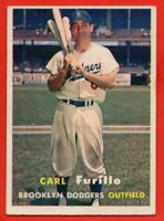 1957 Topps #45 Carl Furillo VG-VGEX+ MARKED Brooklyn Dodgers FREE SHIPPING