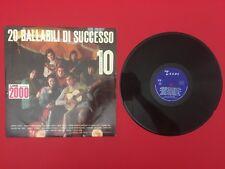Disco Vinile 33 LP 20 BALLABILI DI SUCCESSO Serie NIAGARA 10 , Texas 10/A